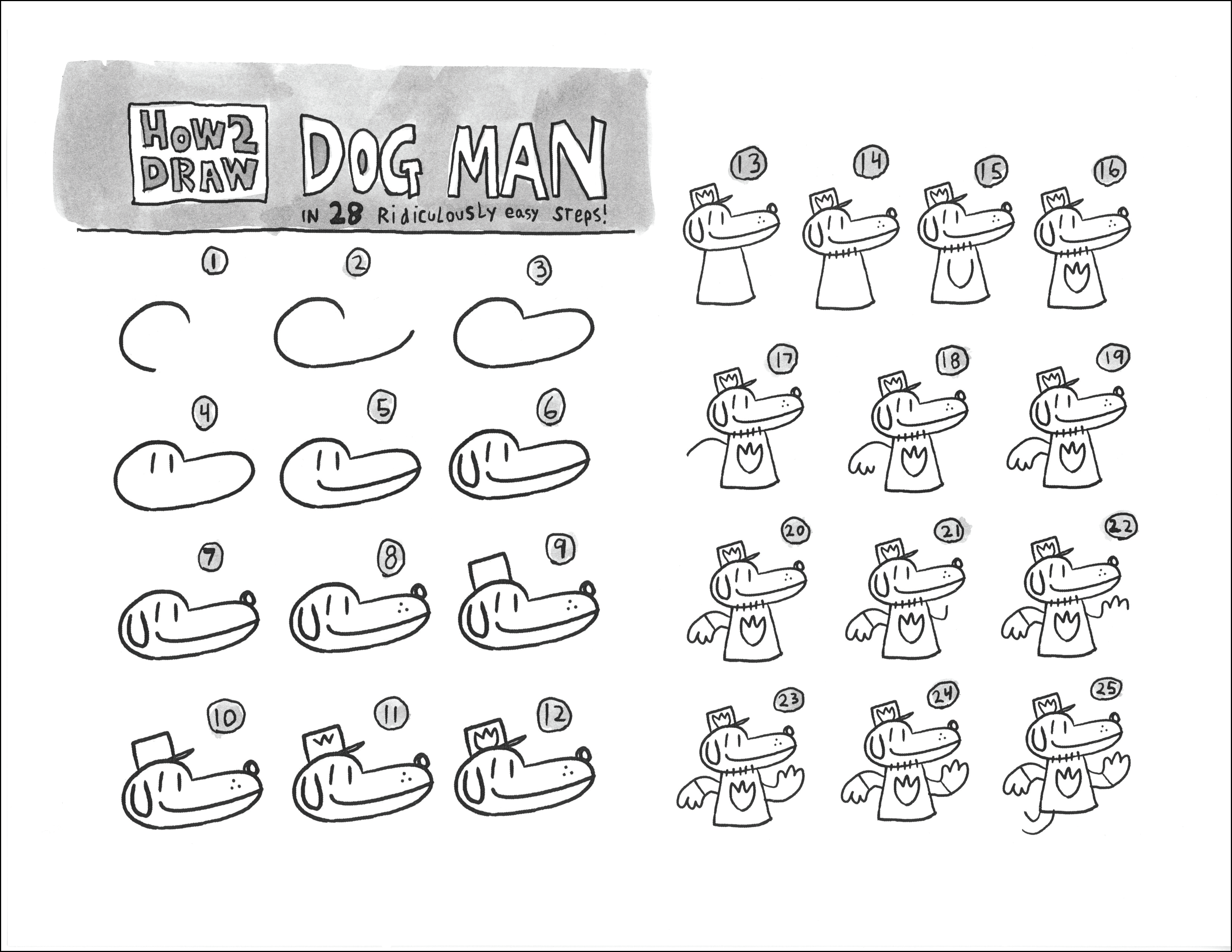 Learn how to draw Dog Man